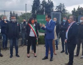 Cirio in visita a Monleale dopo il crollo del palahockey