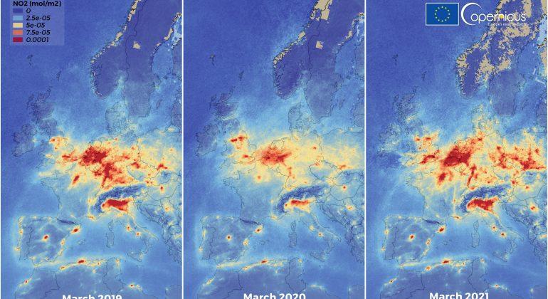 Inquinamento dell'aria tornato ai livelli prepandemici a marzo 2021