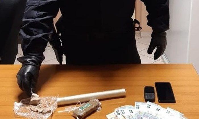 Aveva con sé 150 grammi di droga e 250 euro in contanti: arrestato 29enne