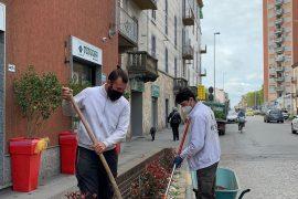 Il Cristo si rimbocca le maniche per rendere più bello il quartiere di Alessandria