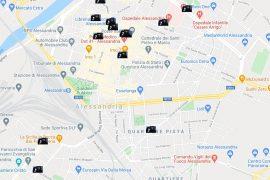 La mappa delle ultime spaccate avvenute ad Alessandria