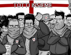 """""""Tutti insieme"""": ecco la vignetta del fumettista alessandrino Dinaz per i Grigi"""