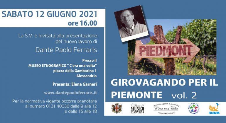 Il Piemonte inesplorato protagonista del nuovo libro di Dante Ferraris