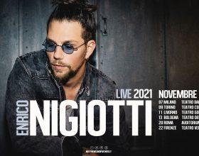 Rinviato all'autunno 2021 il tour teatrale di Enrico Nigiotti