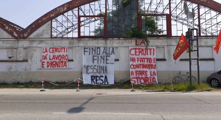 """Crisi Cerutti, sindacati: """"Vogliamo risposte ma tutto tace"""". Martedì presidio davanti al Tribunale"""