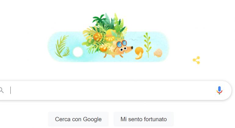 Il doodle di Google del 21 giugno 2021 è dedicato all'estate