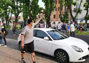 Alessandria in semifinale playoff, i cori dei tifosi nel post gara e il saluto ai giocatori