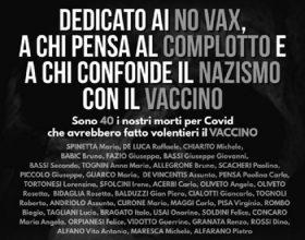 """Il cartellone choc del sindaco di Castelnuovo contro i no vax: """"In 40 sono morti e avrebbero preferito il vaccino"""""""