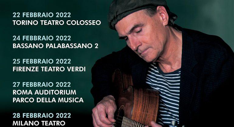 Il tour italiano di James Taylor partirà da Torino il 22 Febbraio