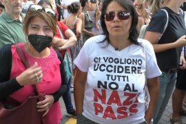 """Ad Alessandria la rabbia di chi è sceso in piazza contro il Green Pass: """"Libertà, libertà"""""""