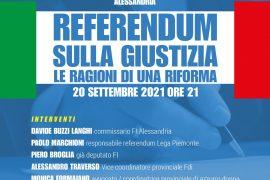 Referendum sulla Giustizia: il 20 settembre convegno di Forza Italia Alessandria
