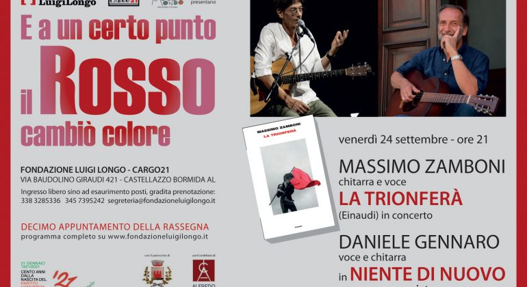 Venerdì 24 Massimo Zamboni alla Fondazione Longo di Castellazzo Bormida