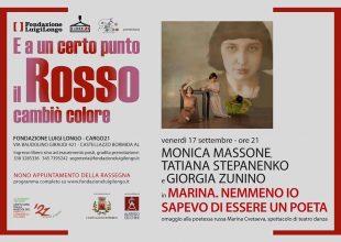 Il 17 settembre spettacolo omaggio alla poetessa russa Marina Cvetaeva a Castellazzo