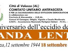 Il 18 settembre a Valenza la cerimonia in ricordo dell'eccidio della Banda Lenti