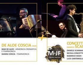 Doppio concerto al Monfra Jazz Fest con Gianni Coscia e Max De Aloe