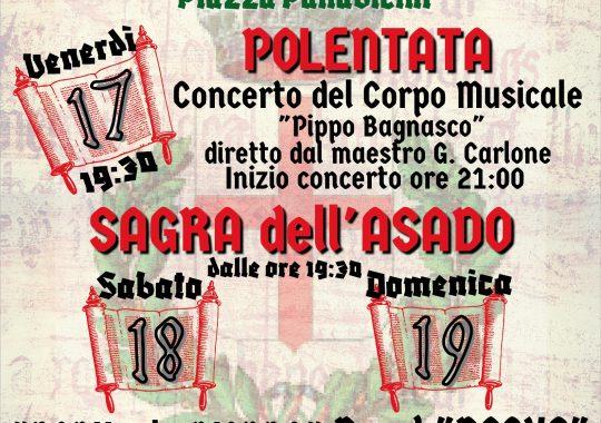"""Dal 17 al 19 settembre a Serravalle Scrivia la """"Festa da Cuntrò 'd sua"""" e sagra dell'Asado"""