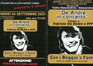Ad Alessandria De André in concerto: tributo a Faber e PFM con Aldo Ascolese