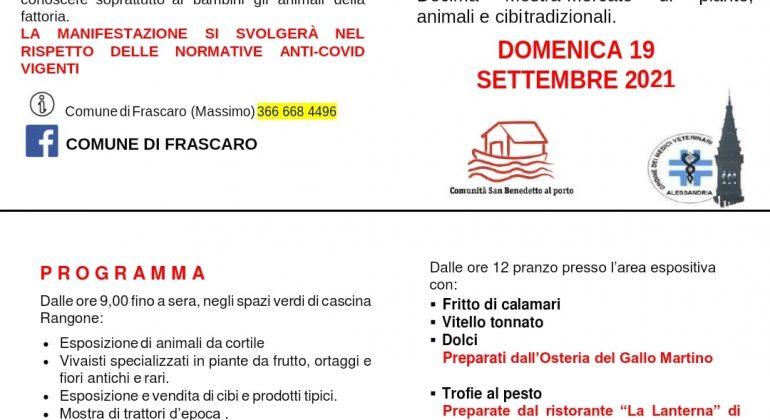 """Il 19 settembre """"Frutti e buoi dei paesi tuoi"""" a Frascaro"""