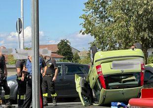 Auto si ribalta in lungo Tanaro Magenta: soccorsi gli occupanti del mezzo