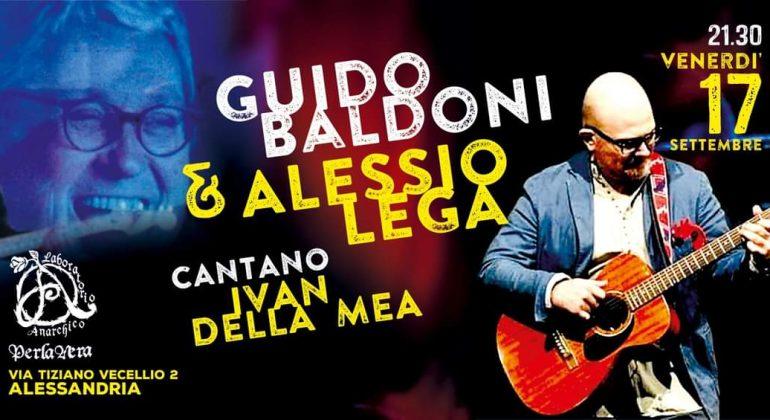 Alessio Lega venerdì 17 ad Alessandria con l'omaggio a Ivan Della Mea