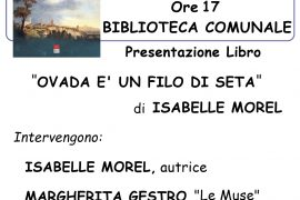 """Il 30 ottobre """"Quattro chiacchiere.. d'autore"""" alla Biblioteca di Tagliolo"""