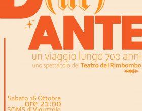 Il 16 ottobre lo spettacolo D(ur)ANTE alla Soms di Viguzzolo per le Giornate Fai di Autunno