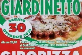 """Sabato 30 ottobre """"Giro Pizza"""" e musica a Giardinetto"""