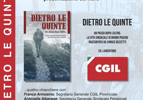 """Il 22 ottobre in Cgil """"La vita sindacale di Bruno Pasero raccontata da Enrico Sozzetti"""""""