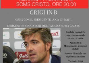 Cena con il presidente Di Masi per la prima del Grigi Club Ciccio Marescalco